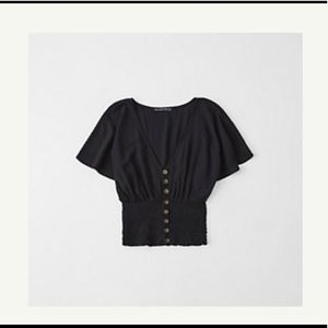 Abercrombie and Fitch Smocked Kimono Top